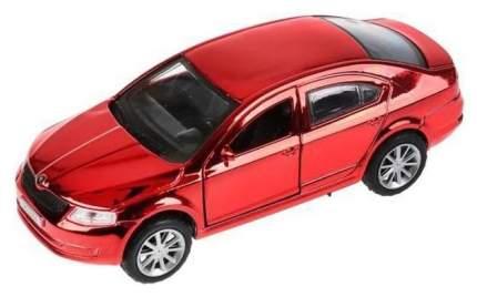 Машина металлическая инерционная Skoda Octavia, хром красный, 12 см Технопарк