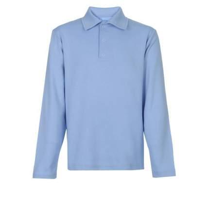 Рубашка-поло Снег, цв. голубой, 128 р-р
