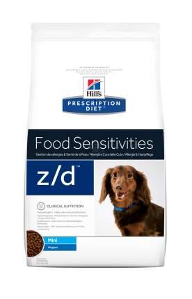 Сухой корм для собак Hill's Prescription Diet z/d Mini для мелких пород при аллергии 1,5кг