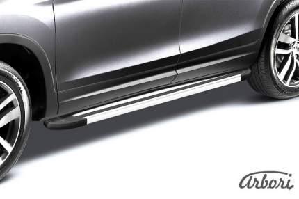 "Комплект алюминиевых порогов Arbori ""Luxe Silver"" длина 1800мм без крепежа"