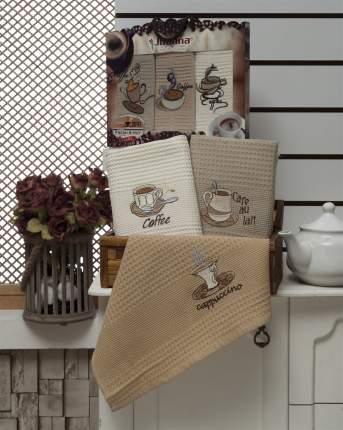 Meteor Кухонное полотенце Coffee Lux Цвет: Коричневый (40х60 см - 3 шт)
