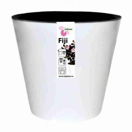 Горшок для цветов INGREEN ING1554БЛ Фиджи D 200 мм/4л белый
