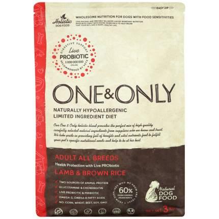 Сухой корм для собак ONE&ONLY Adult All Breeds Lamb&Rice, все породы, ягненок с рисом, 3кг