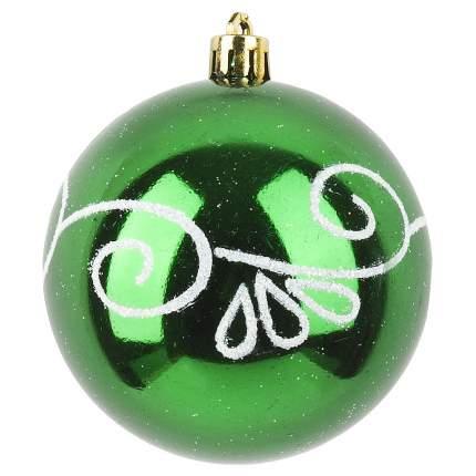 Шар на ель Monte Christmas Изумрудный узор N6510281 8 см 1 шт.