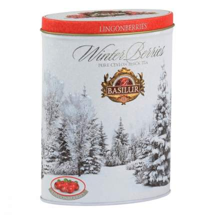 Чай Basilur Зимние ягоды - Брусника черный с добавками 100 г