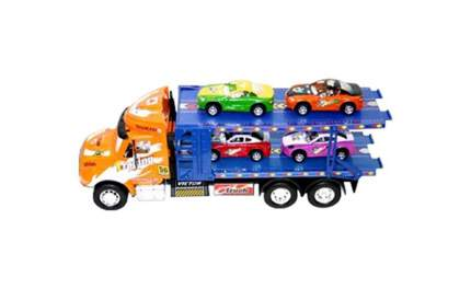 Инерционная пластиковая машинка Shenzhen toys Машиновоз 33809