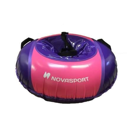 Тюбинг NovaSport 110 см без камеры CH040.110 фиолетовый/фиолетовый розовый