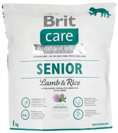 Сухой корм для собак Brit Care Senior All Breed, пожилых всех пород, ягненок и рис, 1кг