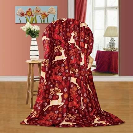 Плед Павлина Олени Цвет: Красный 200х200 см