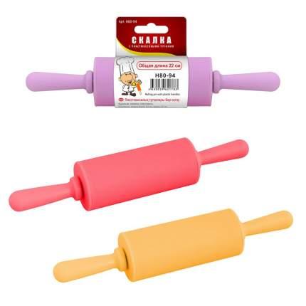 Скалка с пластмассовыми ручками, длина 22 см