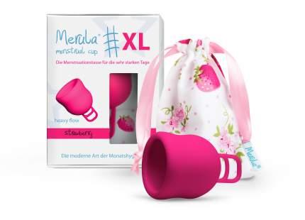 "Менструальная чаша ""Merula"" розовая XL"