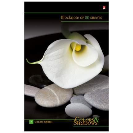 Альт Бизнес-блокнот Цветы и камни, А5, 80 листов, арт, 3-80-072/3 Д