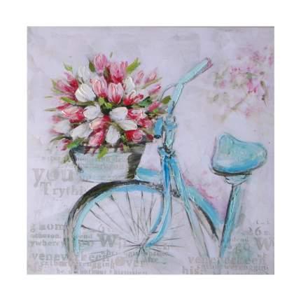 Настенное панно Велосипед цветочницы, 40x40x3cm