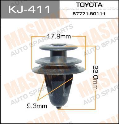 Клипса автомобильная Masuma KJ411