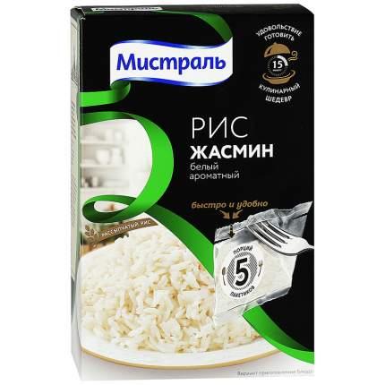 Рис Мистраль жасмин белый ароматный 80 г 5 пакетиков