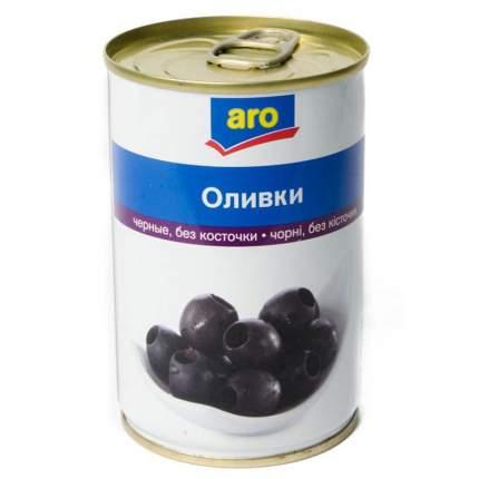 Оливки Aro черные без косточки 300 г