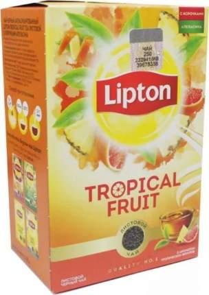 Чай Lipton tropical fruit черный листовой ароматизированный с корочками апельсина 85 г