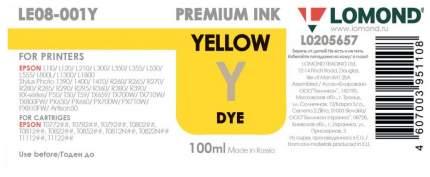 Чернила для струйного принтера Lomond LE08-001Y, желтые