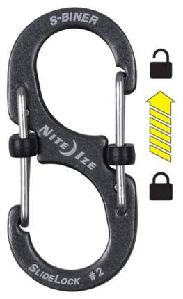 Карабин алюминиевый Nite Ize S-Biner SlideLock #2 LSBA2-09-R6 Charcoal