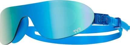 Очки-полумаска для плавания TYR Shades Mirrored 308 green/blue