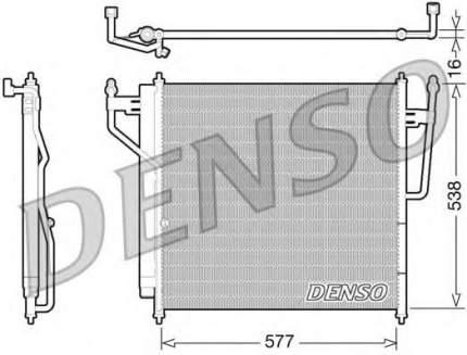 Радиатор кондиционера Denso DCN46017