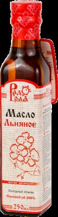 Масло Радоград  льяное холодного отжима 250 мл