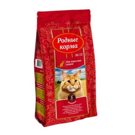 Сухой корм для кошек Родные корма, телятина, 2,045кг