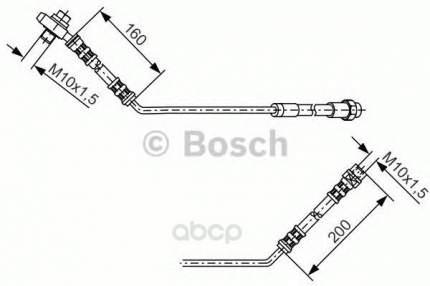 Шланг тормозной системы Bosch 1987476054 задний левый