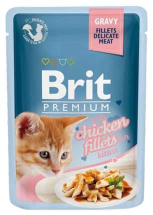 Влажный корм для котят Brit Premium, в соусе, курица, 24шт, 85г