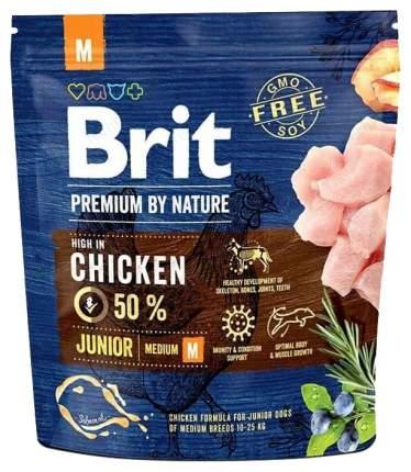 Сухой корм для щенков Brit Premium By Nature Junior M, для средних пород, курица, 1кг