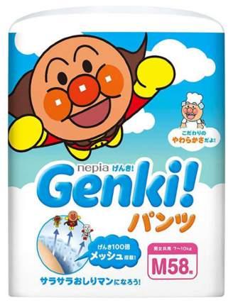 Подгузники-трусики Genki M (7-10Кг), 58 шт.
