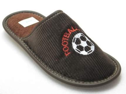Тапочки Рапана детям коричневые Футбол 34 размер
