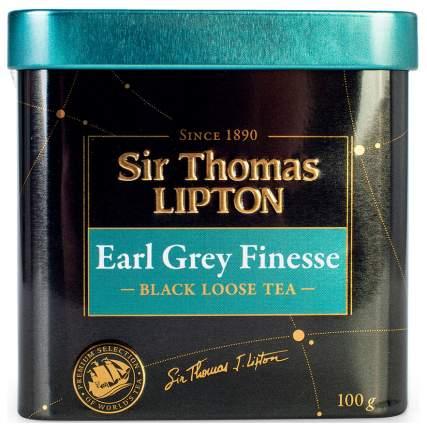 Чай черный Lipton sir Thomas earl grey finesse листовой 100 г