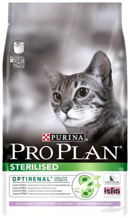 Сухой корм для кошек PRO PLAN Sterilised, для стерилизованных, индейка, курица, 1,5кг