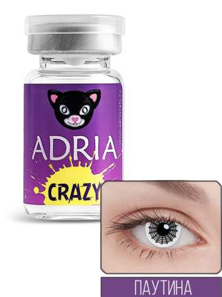 Контактные линзы ADRIA CRAZY 1 линза 0,00 spider web