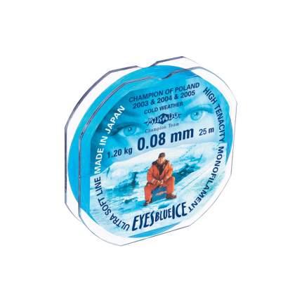 Леска монофильная Mikado Eyes Blue Ice 0,08 мм, 25 м, 1,2 кг