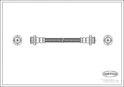 Шланг тормозной CORTECO 19032278