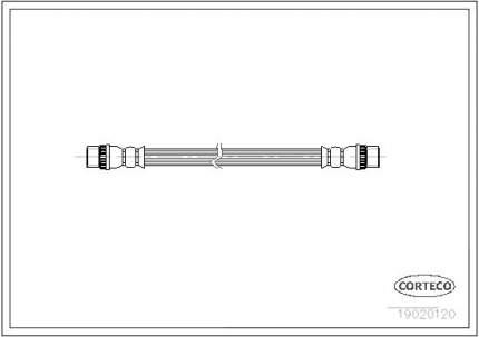 Шланг тормозной CORTECO 19020120