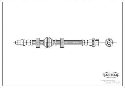 Шланг тормозной CORTECO 19026460
