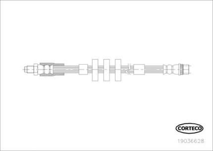 Шланг тормозной системы CORTECO 19036628