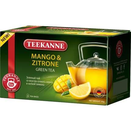 Чай Teekanne манго-цитрон зеленый 20 пакетиков