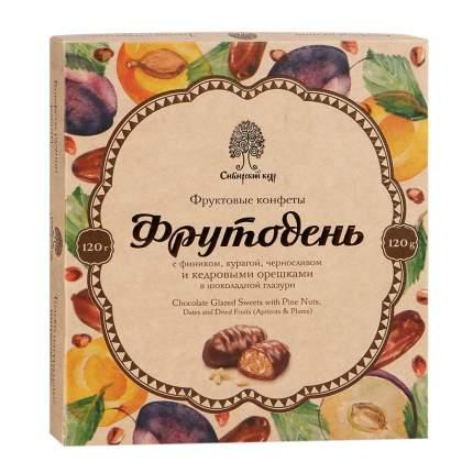 Конфеты Сибирский кедр фрутодень с кедровым орехом в шоколадной глазури 120 г