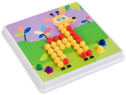 Мозаика для малышей Bondibon c кнопками 8 шаблонов 240 фишек ВВ2870
