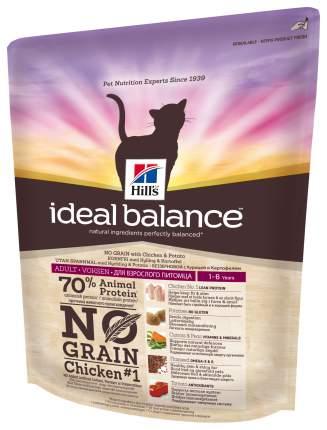Сухой корм для кошек Hill's Ideal Balance, беззерновой, курица, картофель, 0,3кг