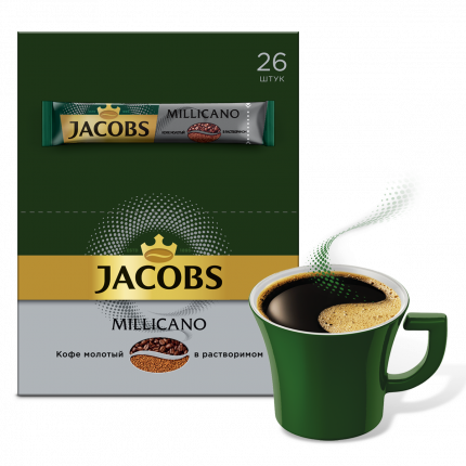 Кофе Jacobs monarch milicano натуральный растворимый сублимированный с молотым 26*1.8 г