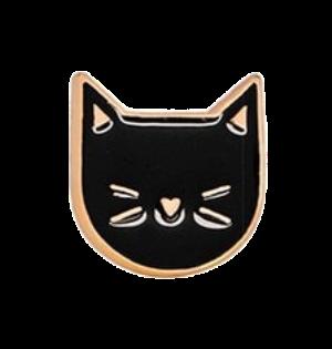 Значок Мордочка черная, металл