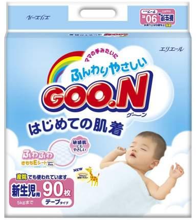 Подгузники Goo.N New Collection для новорожденных 0-5 кг 90 шт