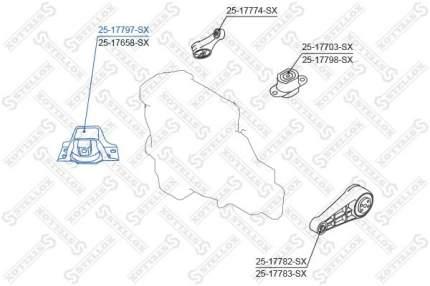 Опора двигателя STELLOX 25-17797-SX