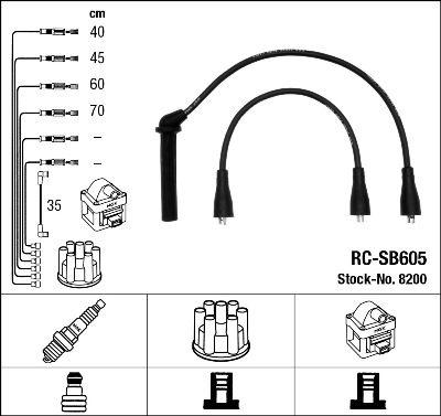 Комплект проводов зажигания NGK 8200