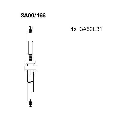 Комплект проводов зажигания BREMI 3A00/166